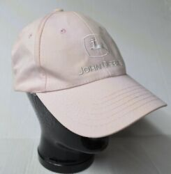 John Deere K Products Snapback Trucker Hat Cap Pink White Authentic Embroidered