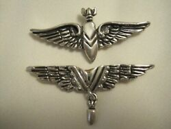 Vtg Hector Aguilar Wings Bombardier Bomb Pin Victory Ww 11 Sterling Taxco Mexico