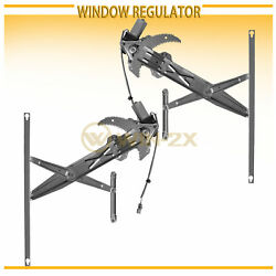 Front Right+Left Power Window Regulator w/ Motor Fit 96-00 Civic Coupe/Hatchback