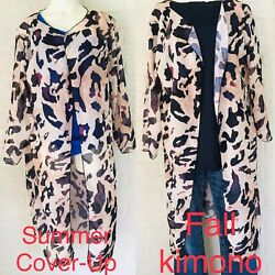 Sheer Swimsuit Cover-Up or Kimono Cover-Up Animal Print One Size Fits All  $7.99
