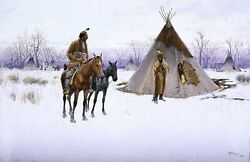 Early Start By American Artist Henry Farny Indians Repro Choose Canvas Or Paper
