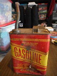 Vintage Stancan 2 Gallon Gas Gasoline Can 10.5 - Height To Edge