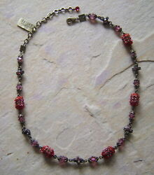 Chain Aladdin In The Color Red/antique Bronce From Konplott