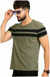 Mens Tshirt Yog Trends Cotton Half Sleeves With Crew Neck Solid Multicolored