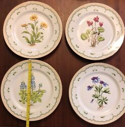 Georges Briard Victorian Gardens Floral And Gold Dinnerware 56 Pc