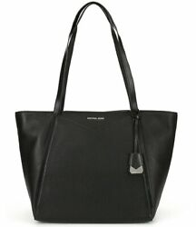 MICHAEL Michael Kors Whitney Large Top Zip Tote Black Pebbled Leather $99.95