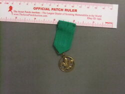 Boy Scout Foreign Award Medal Green 6644bb