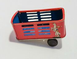 Vintage Stock Van Truck Trailer Only Tin Toy Made In Japan Free Shipping