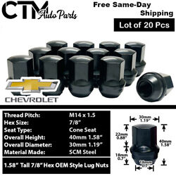 20pcs 14x1.5 Dodge Oem Factory Style Lug Nuts Fits Chevy/jeep/chrysler/ram More