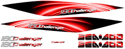 Challenger 180 Sticker Stripe Seadoo Full Kit Graphic Replacement 2005 2010