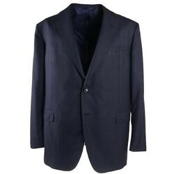 NWT $4195 OXXFORD HIGHEST QUALITY 'Capitol' Slate Blue Check Wool Suit 46 R