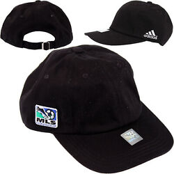 Adidas Major Leauge Soccer MLS Adjustable Slouch Hat Black One Size Fits All $8.99