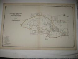 Superb Vintage Antique 1917 Vernon Valley Northport New York Handcolored Map Nr