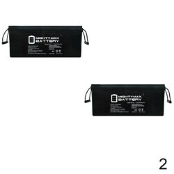 Mighty Max 12V 200Ah 4D SLA Battery Replacement for Little Giant Crane - 2 Pack