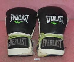 Everlast Powerlock Boxing 16 Oz. Gloves___bad Condition__for Restoration Only