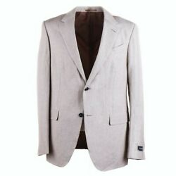 Nwt 2995  Lightweight Wool And Linen Suit 42 L Milano Easy