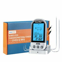 Bbq Thermometer Risepro Digital Grill Thermometer Remote Oven Wireless Food T..