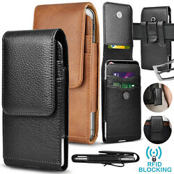 Cell Phone Holster Pouch Leather Wallet Case with Belt Loop for iphone Samsung $8.98