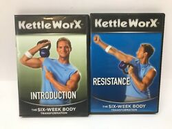 Kettleworx 6-week Body Transformation Dvd - Introduction, Resistance Lot Of 2