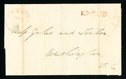 Us Stamps Red Cds With Matching Rare Pointing Hand Paid On Old York Pa Cover