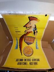 Vintage Rare Theater Poster 1957 Richard Quine Operation Mad Ball 40x60