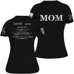 Grunt Style Women#x27;s Mom Defined T Shirt Black $20.39