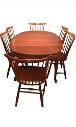 Stickley Antique Cherry Oval Dining Table And 6 Chair Set