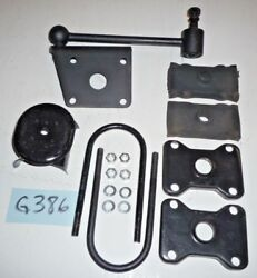 Used Oem And03962 - And03974 Mgb Rh Shock Attachment Link Brackets U-bolts Plates G386