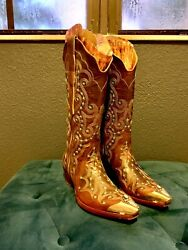 Old Gringo Celest Brown And Turquoise Cowboy Boots