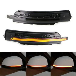 Sequential Blink Led Side Mirror Turn Signal Light Strip For 15-up Porsche Macan