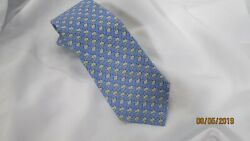 Southern Tide Pale Blue Silk Tie Frog With Guitar Drum Design