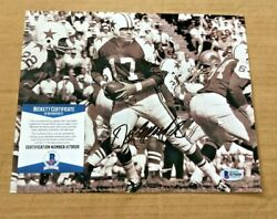 Don Meredith Signed 8x10 Dallas Cowboys Photo Beckett Certified