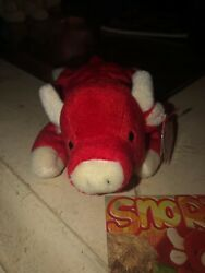 May 15, 1995 Ty Original Beanie Babies Snort The Red Bull With Collectors Card
