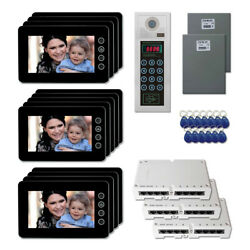 Apartment Home Security Video Intercom System Kit With 13 7 Color Monitor
