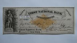1227.24 1883 Cooperstown New York Ny Cancelled Check First National Bank