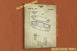 1984 Coffin Canvas Patent Print - Halloween Wall Art - Day Of The Dead Decor