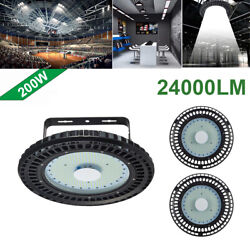 3X 200W UFO LED High Bay Light Industrial lamp Factory Warehouse Shed Lighting