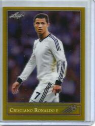 Cristiano Ronaldo 2019 Leaf National Metal 1992 Style Gold Refractor 1/1