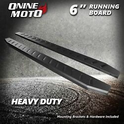 Fit 07-21 Toyota Tundra Double Cab 6 Black Heavy Duty Running Boards Side Steps