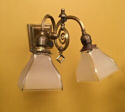 Vintage Lights 1905 Pair Gas Electric Mission Sconces. Rare And Striking