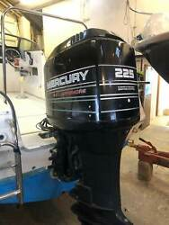 Used Mercury V6 225hp 2-Stroke Outboard Remote Control Electric Start Engine