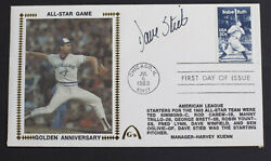 1983 Dave Stieb Aut. Signed Enveloppe All-star Game Golden An. Babe Ruth Stamp