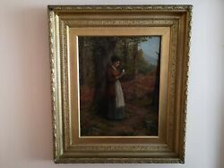 19th Century Oil On Canvas And039the Letterand039 Signed By R. T. Minshull 1866-1885