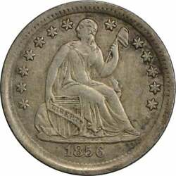 1856 Liberty Seated Silver Half Dime Choice Au Uncertified