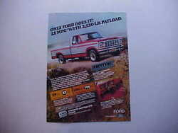 1981 Ford F100/150 Ranger Pickup Truck Vintage Ad From Nice Estate Collection-81