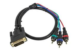 Monoprice 3868 2ft. Dvi-i To 3 Rca Component Video Projector Cable - Lot Of 34