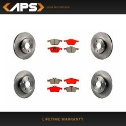 Front And Rear Disc Rotors And Semi-metallic Brake Pads Kit For 2012-2017 Ford Focus