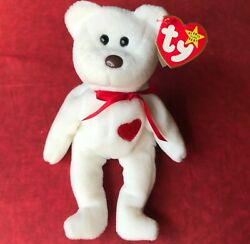 Valentino Ty Beanie Baby With Brown Nose And Tag Errors. 8 Errors-extremely Rare