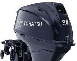 New Tohatsu 9.8hp 4 Stroke Outboard Electric Start Remote Control Short Shaft