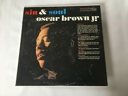 Oscar Brown - Sin And Soul Columbia 1577 {orig} W/alonzo Levister Devens -rare
